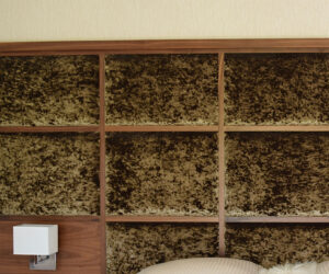 Custom-made walnut bedroom room furniture