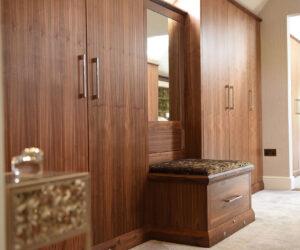 Bespoke walnut bedroom room furniture