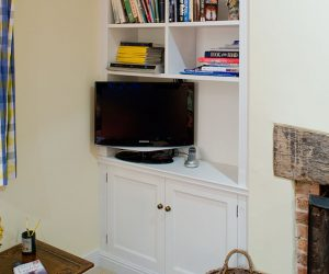 Bespoke fitted alcove cabinets