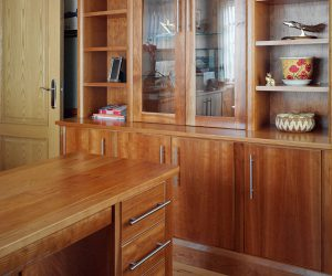 fitted study in American cherry wood