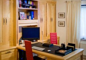 classic oak home office